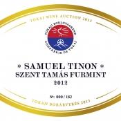 Samuel Tinon Szent Tamás Furmint 2012
