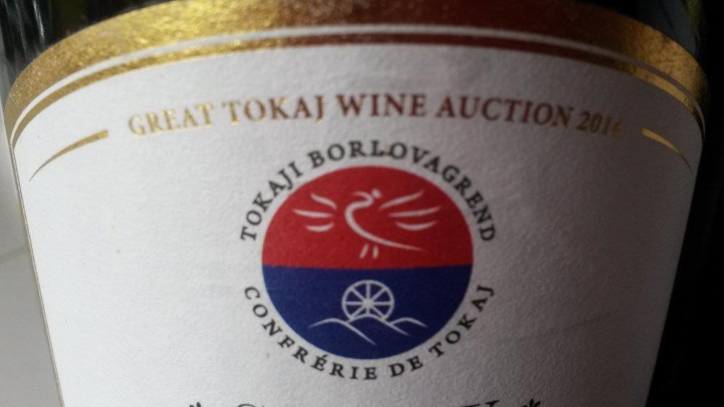 Nagy Tokaji Borárverés - Tokaji Borlovagrend cimke