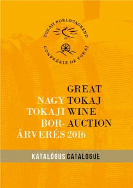 Great Tokaj Wine Auction catalogue