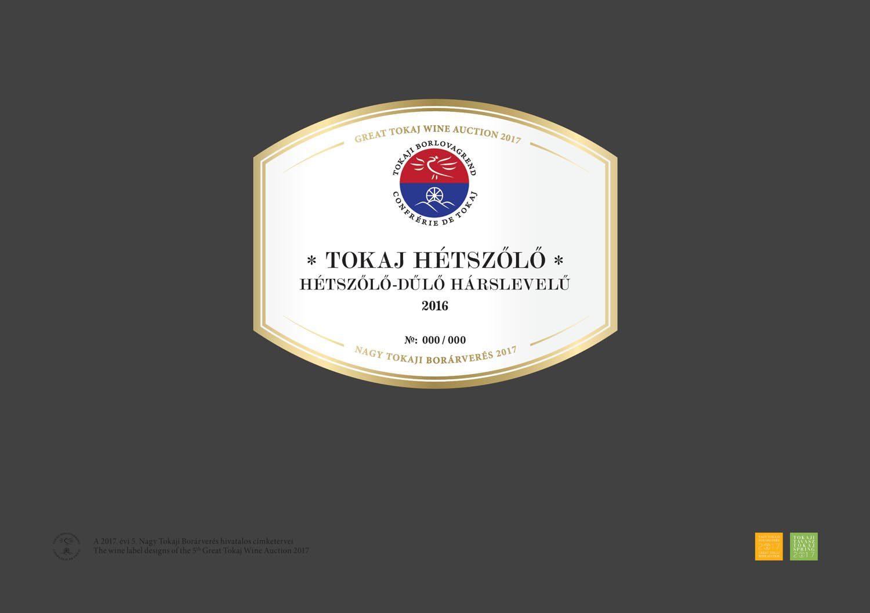 Tokaj Hétszőlő - Hétszőlő-dűlő Hárslevelű 2016
